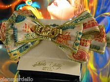 trim Free Ship Rb8 usa made Kirks Folly Barrette Fabric Bow gold