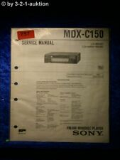Sony Service Manual MDX c150 (#0757)