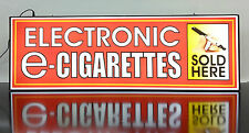 Business LED Lighted Box Sign: Electronic e - Cigarettes Sold Here (RED)