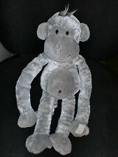 grand doudou peluche singe gris bruit son cri MONKEEZ GIPSY 45cm