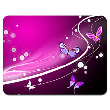 Soft Mouse Pad Neoprene Laptop PC MousePad Butterfly Pink