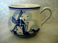 Collectible D.A.I.C. DELFT BLUE Hand Painted Windmill Mug