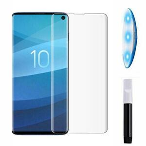Pellicola schermo vetro FULL GLUE colla luce UV per Samsung Galaxy S10 SM-G973F