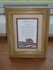 """Fireman's Prayer Firefighter Wall Decor Plaque Sign Matted 9"""" x 7"""" New with Box"""