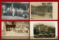 4 x Militär Foto AK 1. WK Flandern, Nordfrankreich  ( 60593