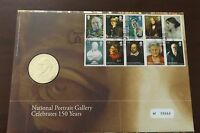 GB QEII PNC B/UNC 2006 PORTRAIT GALLERY COVER AND COIN/MEDAL ROYAL MINT