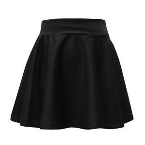 Skater Skirt Skirts Girls Kids Casual Party and School Wear Black 7 to 13 Years