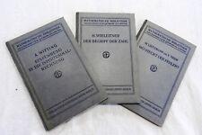 Mathematische Bibliothek - Bände 2, 9 und 10 - 1911/12 1913