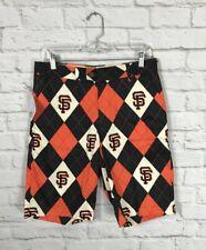 NEW Loud Mouth MLB San Francisco Giants Argyle Shorts Size 30
