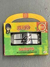 Naruto Masashi Kishimoto Black Konoha Leaf Logo Headband Anime Accessory