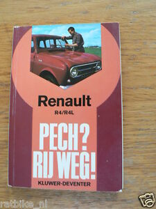 RENAULT R4 AND R4L TECH INFO BOOK, PECH RIJ WEG KLUWER CAR AUTO OLDTIMER
