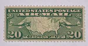 TRAVELSTAMPS: 1926-30 US Stamps Scott # C9 Map of U.S. Mint NG