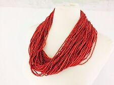 Vintage Red Nagaland Naga Konyak 80 Strand Multi-Strand Red Necklace Rare