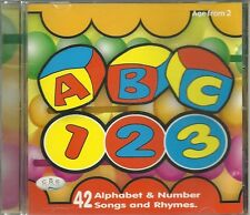 ABC 123 ALPHABET & NUMBER SONGS & RHYMES CD