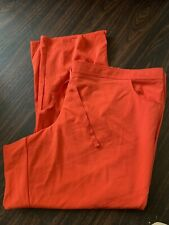 Womens Plus Size 5X Orange Grey's Anatomy Signature Scrub Pants