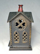 "Antique Coin Bank/Very Nice 1882 Cast Iron ""Villa"" (Church) by Kyser and Rex"