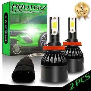 Protekz H7 LED Headlight Kit Waterproof Plug&Play Turbo Cooling Fan 60W 7200LM
