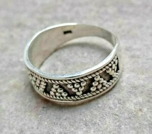 925 PLAIN EXOTIC STERLING SILVER WITHOUT GEMSTONE DESIGNER FINE RING 4 GM SIZE 8