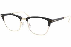 Tom Ford TF5590-F-B 001 Eyeglasses Shiny Black/Rose Gold Titanium Optical Frame
