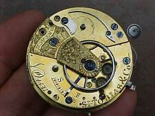 ANTIQUE EARLY 1800s POCKET WATCH MOVEMENT - S.I. TOBIAS LIVERPOOL