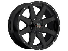 "20"" Strada Monster Offroad Wheels M08 Black Rims Pirelli Tires Chevy GMC  Ford"