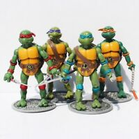 Teenage Mutant Ninja Turtles LOT DE 4 FIGURINES SERIE JOUET DECO TORTUES NINJA
