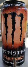 NEW MONSTER REHAB PEACH ICED TEA ENERGY DRINK 16 FL OZ FULL CAN FREE SHIPPING