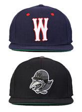 WeSC Mopedoz Dubby Snapback Cap Hat Blue Navy Black