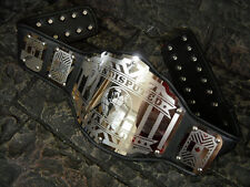 BLOWOUT SALE ! Undisputed Championship Belt Legend Black Adult Metal Plates