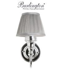 Burlington Bathrooms Ornate light with chrome base & silver chiffon shade   BL25
