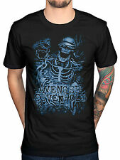 Official Avenged Sevenfold Chained Skeleton T-Shirt A7X Band Seventh Trumpet