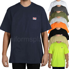 Ben Davis T shirt Mens Short Sleeve Classic Pocket Heavy Weight Duty Cotton Tee