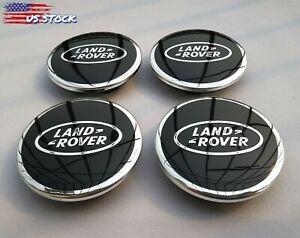 Aieryu 4Pcs Wheel Center Caps for Land Rover 63mm 3D Emblem Aluminum Hub Center Caps Stickers Logo Wheel Trim Accessories