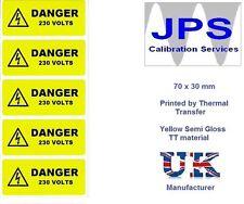 Le etichette di Electrical - 10 pericolo 230V 70 x 30mm jpslabel16