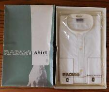 Radiac tunic shirt Hardy Amies 15.5 collarless Sparwick UNUSED vintage 1950s 60s