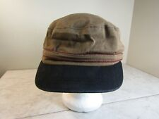 Brixton Fitted Brown Canvas Banded Cotton/Polyester Visor Hat Size Lg 7 1/2