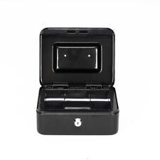 Personal Lock Box Small Portable Cash Safe Locking Storage Home Travel Black
