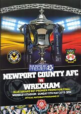 NEWPORT COUNTY v WREXHAM BLUE SQUARE CONFERENCE PLAY OFF FINAL 2013 PROGRAMME