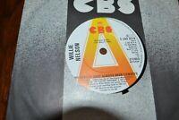 "WILLIE NELSON    MY HEROS HAVE ALWAYS BEEN COWBOYS    7"" VINYL    CBS S CBS 8316"