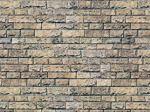 16 SHEETS EMBOSSED BUMPY BRICK stone wall paper 21x29cm SCALE 1/12 PAPER