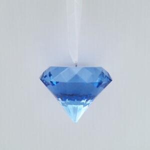 MACY'S HOLIDAY LANE BLUE DIAMOND GEMSTONE JEWELRY ENGAGEMENT CHRISTMAS ORNAMENT