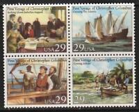 Scott# 2620-23 - 1992 Commemoratives - 29 cents Voyage of Columbus Block