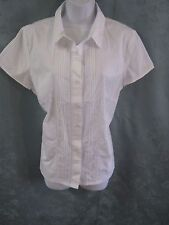 The Tog Shop Pin Tuck & Lace Blouse Size Medium