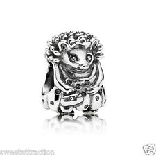 New Authentic Pandora Charm Miss Hedgehog 791179 Bead W Tag & Suede Pouch