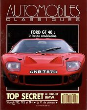 AUTOMOBILES CLASSIQUES n°25 AVRIL 1988 FORD GT40 TIRUMPH TR2 TR3 TR4