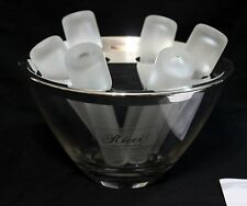 Ricci Argentieri Crystal Stainless 8 Piece Vodka Set NEW in box