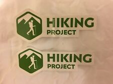 Lot of 2 NEW REI Co-op Hiking Project Sticker, Decal Green App Hikingproject.com