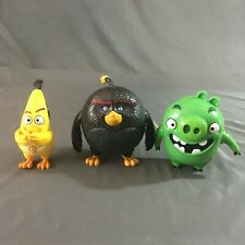 """Lot of 3 Angry Bird Movie Spin Master Electronic Talking Toys 6"""""""