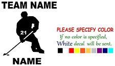 "Personalized Ice Hockey sports  Vinyl Decal Sticker Car Window laptop tablet 6"""