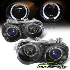 [Dual LED Halo] 1994 1995 1996 1997 Acura Integra Projector Black Headlights Set